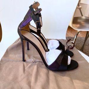 NEW gianvito rossi black strappy dress heels